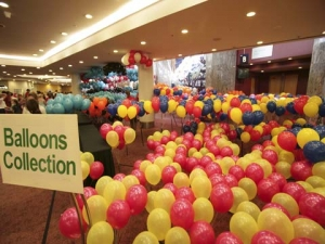 Behind the scenes - all the balloons ready for collection!