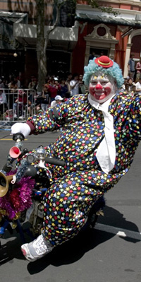 Santa Parade Clown